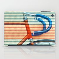 striped iPad Cases featuring Standard Striped Bike by Fernando Vieira