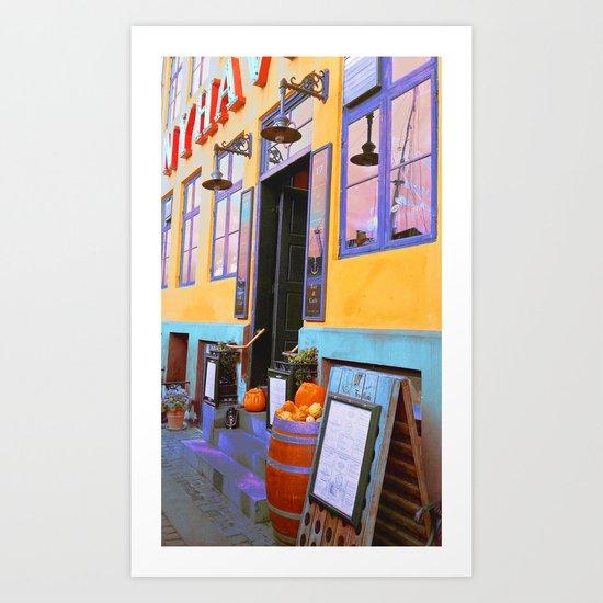 Danish Bar in Autumn Art Print
