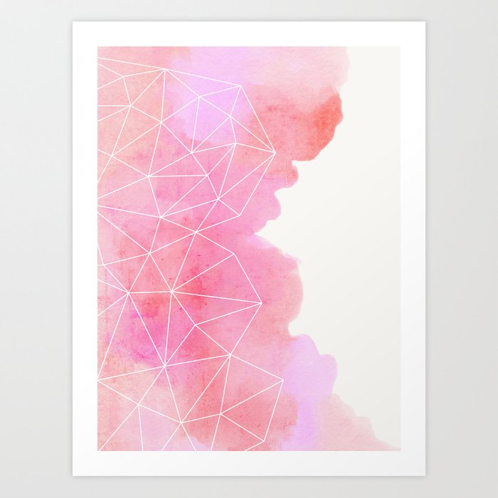 Pink Cloud Art Print