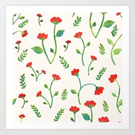 Lush Poppies Art Print
