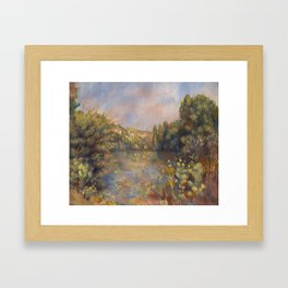 Lakeside Landscape by Renoir Framed Art Print