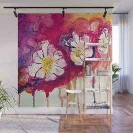 Tres Floras Wall Mural