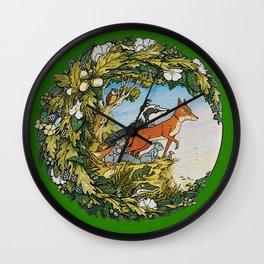 Animals Of Farthing Wood Wall Clock