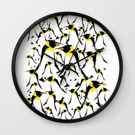 Penguin pick up Wall Clock