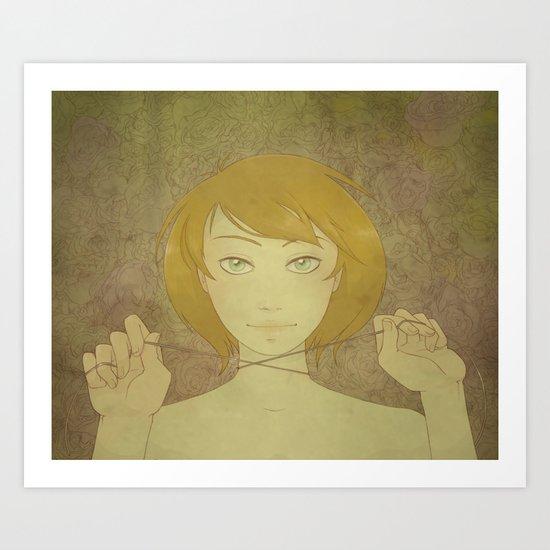 Abby - Roses Art Print