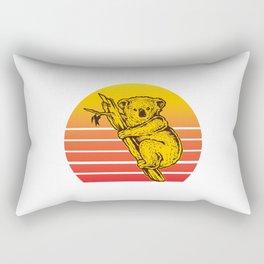 Koala Retro Sunset Rectangular Pillow