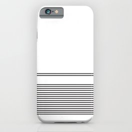 Black Lines On White Minimal Pattern iPhone Case
