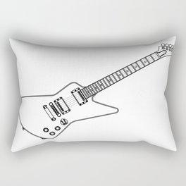 Modern Electric Guitar Outline Rectangular Pillow
