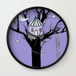 Treehouse at Midnight Wall Clock