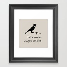 Early bird Framed Art Print
