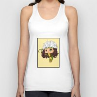 rogue Tank Tops featuring Chibi Rogue by artwaste