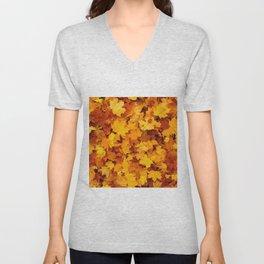 Fall Autumn Leaves Unisex V-Neck