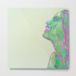 Laughing With Metal Print