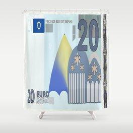 20 Euro Note Bill Shower Curtain