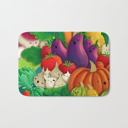 Nice People Eat Vegetables - background (Made with Danny Ivan) Bath Mat