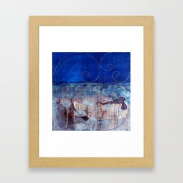Chicxulub - Bluer version Framed Art Print