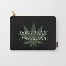 Don't Panic it's Organic Vintage Potleaf Print Carry-All Pouch