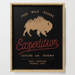 Bison Mountain Expedition Serving Tray