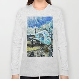 Emirates A380 Airbus Art Long Sleeve T-shirt