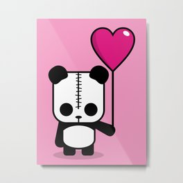 Lezzi Panda - Falling in Love Metal Print