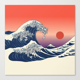 The Great Wave of Maltese Canvas Print