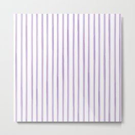Purple Watercolour Stripes Metal Print