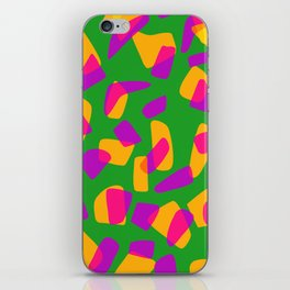 happy pink shapes iPhone Skin
