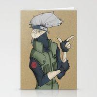 kakashi Stationery Cards featuring Kakashi by Salva Laserna