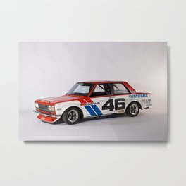 BRE Racing 510 Vintage JDM SCCA Championship Classic Automobile Metal Print