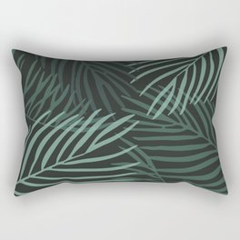 Dark Palm Leaves Rectangular Pillow