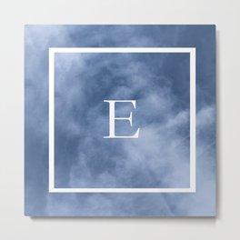 E in the clouds Metal Print