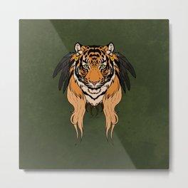 Tribal Tiger Metal Print
