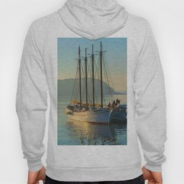 Bar Harbor Nautical Ship Print Hoody