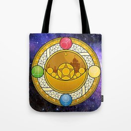 Sailor Moon Crystal stained glass window Transformation Brooch Tote Bag