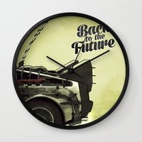 back to the future Wall Clocks featuring Back to the future by Duke.Doks