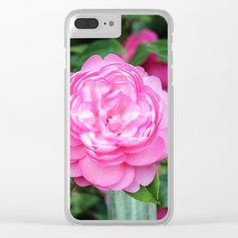 Camellia Joy Clear iPhone Case