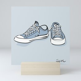 Grey Sneakers Mini Art Print