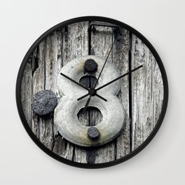 Crazy 8 Wall Clock