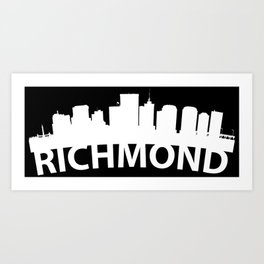 Curved Skyline Of Richmond VA Art Print