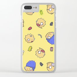 Simpsons Fever Clear iPhone Case