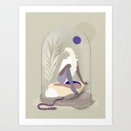 Moon Child - Girl in Wild Nature Art Print