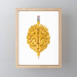 Pencil Brain Framed Mini Art Print