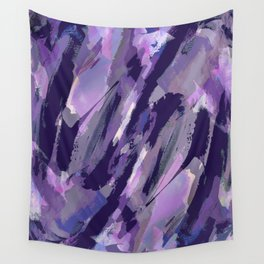 Thunder Plum Abstract Wall Tapestry