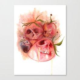 Strawberry Skullz Canvas Print