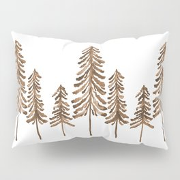 Pine Trees – Sepia Palette Pillow Sham