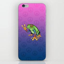 Peace Frog iPhone Skin
