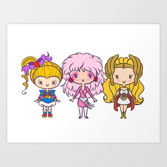 Lil' CutiEs: 80s Ladies Art Print