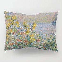 Flower Beds at Vétheuil, Claude Monet Pillow Sham