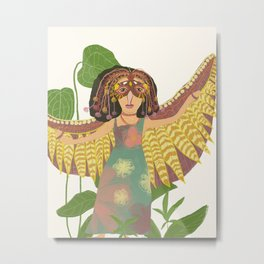 Lady is a Bird Metal Print
