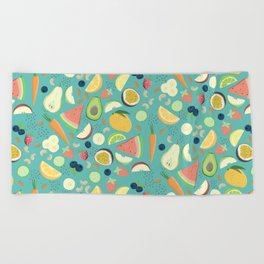 Eat your fruit and vegetables Beach Towel